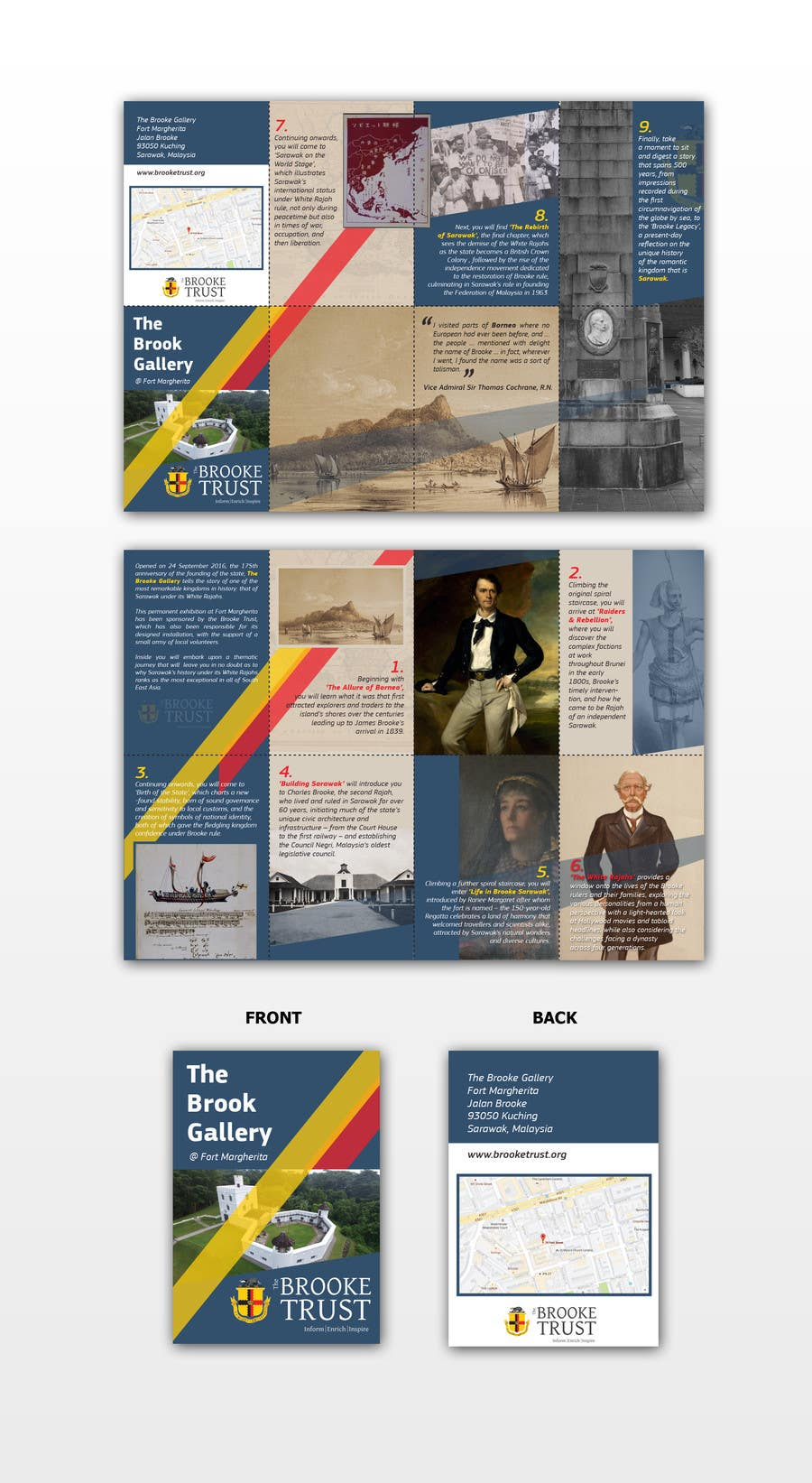 entry 36 by glazaropoulos for design a museum fold out brochure