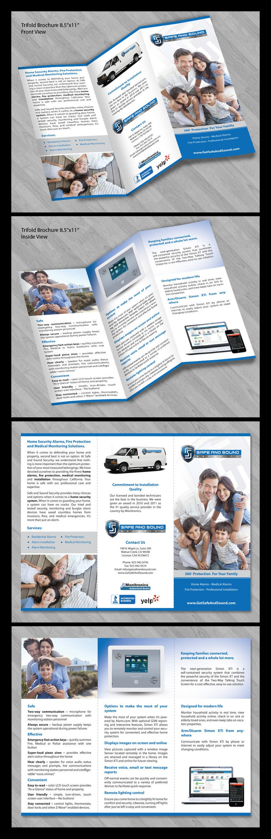 Contest Entry #                                        44                                      for                                         Brochure Design for Safe and Sound Security