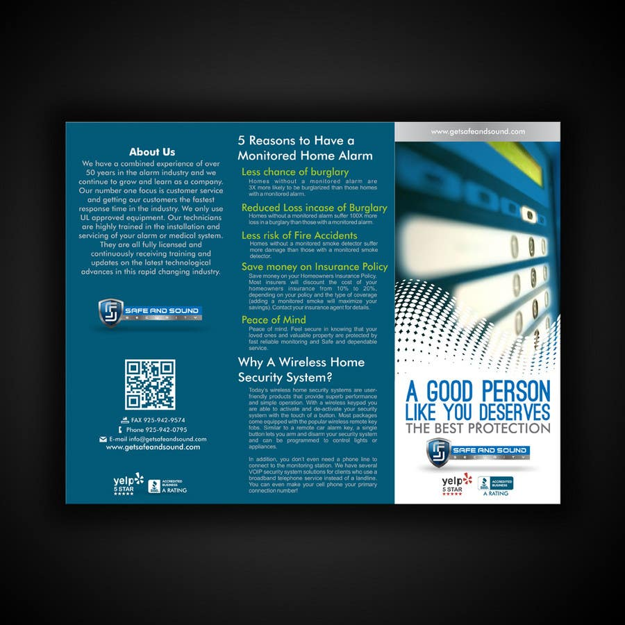 Contest Entry #                                        33                                      for                                         Brochure Design for Safe and Sound Security
