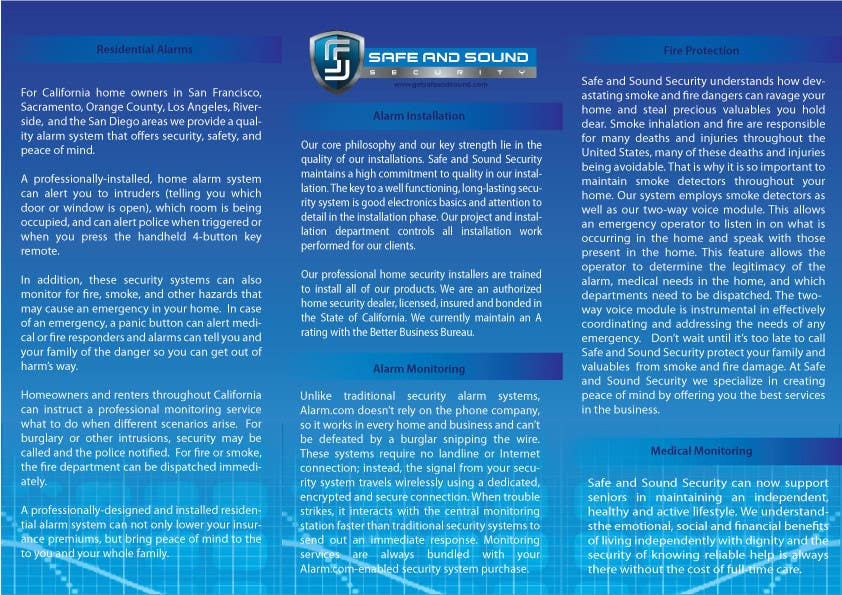 Entry #18 by denkoMK for Brochure Design for Safe and Sound Security