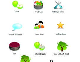 nº 33 pour Icon or Button Design for UglyFruit par Smartdotsteam