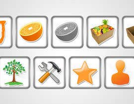 #6 untuk Icon or Button Design for UglyFruit oleh shufanok24
