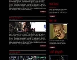 nº 9 pour Design a Website Mockup for ZombDay a Zombie Horror News Website par DenisRolon