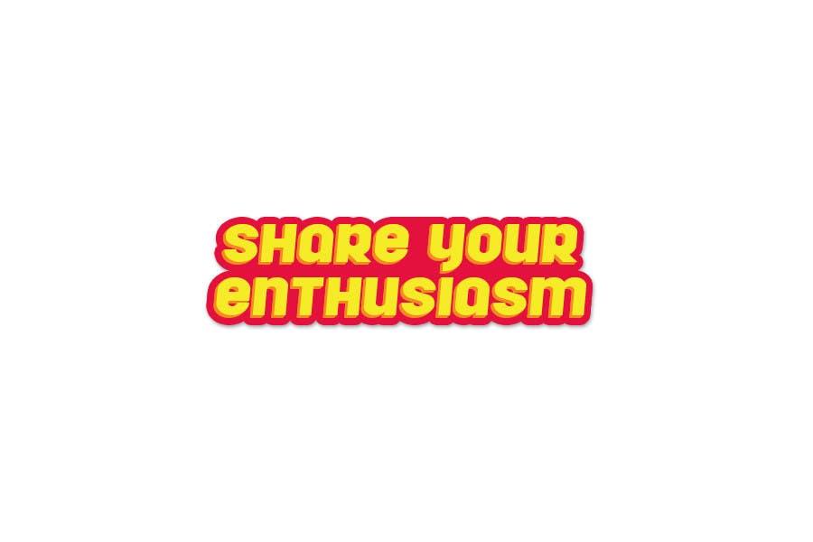 Proposition n°                                        229                                      du concours                                         Logo Design for Share your enthusiasm