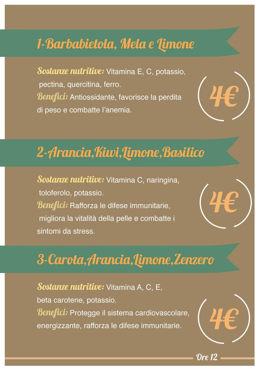 """Penyertaan Peraduan #                                        7                                      untuk                                         Disegnare un MENU per il mio ristorante """"Ore12"""""""