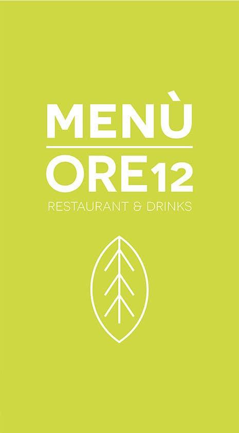 """Penyertaan Peraduan #                                        18                                      untuk                                         Disegnare un MENU per il mio ristorante """"Ore12"""""""
