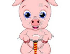 Nro 2 kilpailuun I want a cute pig on a jumping toy käyttäjältä abuk007