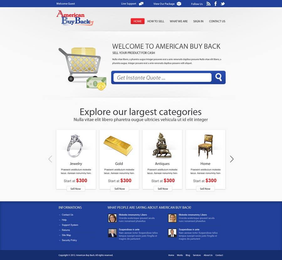 Inscrição nº 53 do Concurso para Website Design for American Buy Back! Buying Electronics Antiques Gold and valuables Online w/Cash