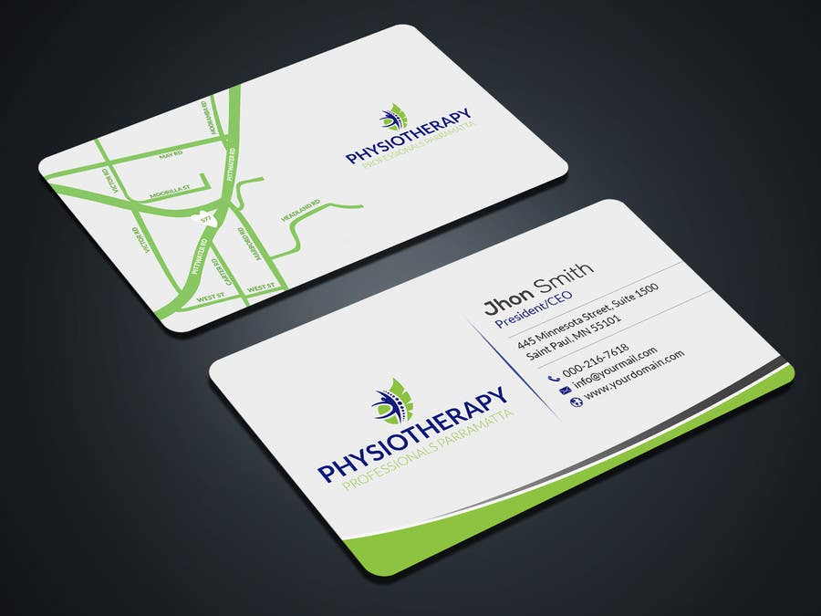 Entry #5 by mahmudkhan44 for design business card for physiotherapy ...