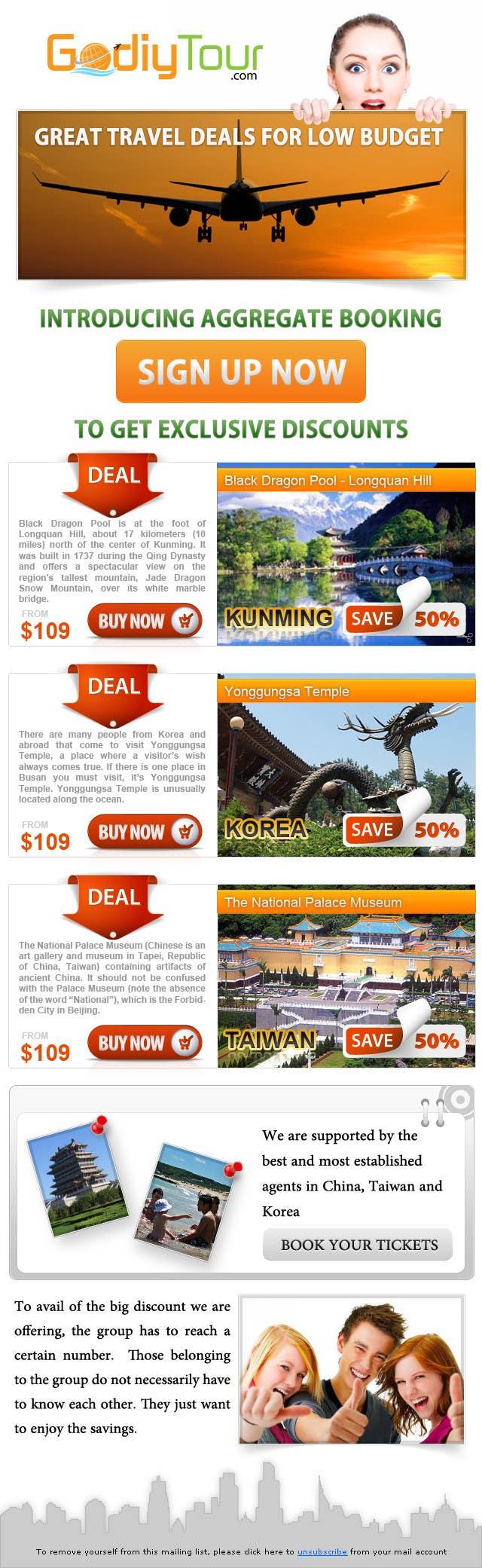 Penyertaan Peraduan #13 untuk Advertisement Design for Godiytour.com