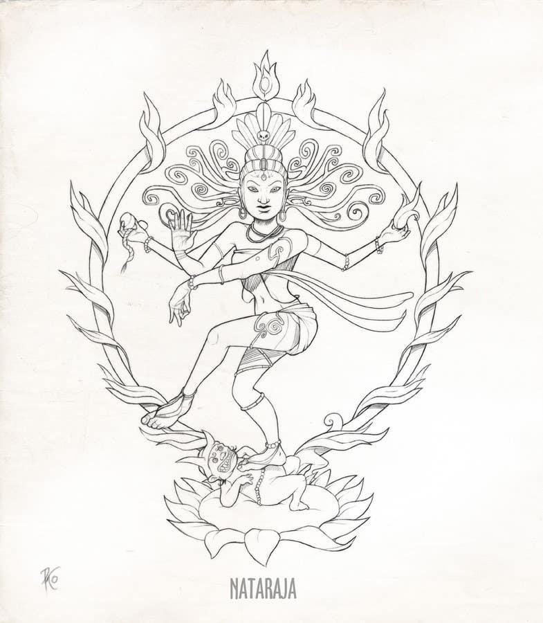 Inscrição nº                                         34                                      do Concurso para                                         Sketches of deities for a new book to be published on Hinduism