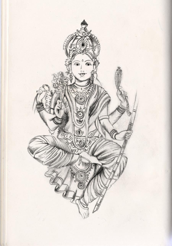 Inscrição nº                                         16                                      do Concurso para                                         Sketches of deities for a new book to be published on Hinduism