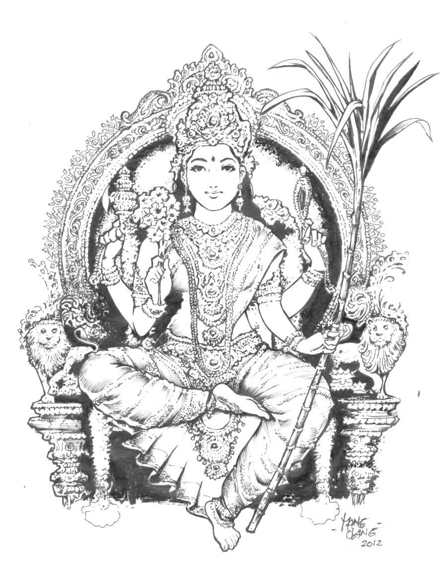 Konkurrenceindlæg #                                        53                                      for                                         Sketches of deities for a new book to be published on Hinduism