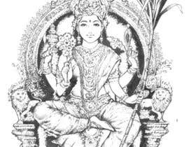 #53 for Sketches of deities for a new book to be published on Hinduism by mangolang