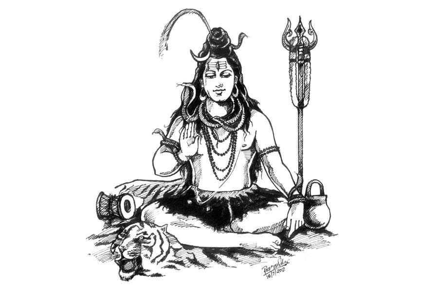 Inscrição nº                                         48                                      do Concurso para                                         Sketches of deities for a new book to be published on Hinduism