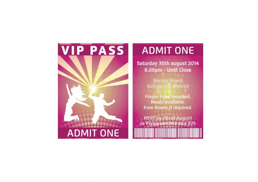 Bài tham dự cuộc thi #                                        2                                      cho                                         VIP Birthday Invitation to go in Lanyard