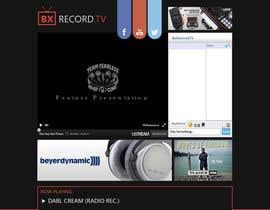 AndyBag tarafından Design a Website Mockup for BxRecords.TV için no 8