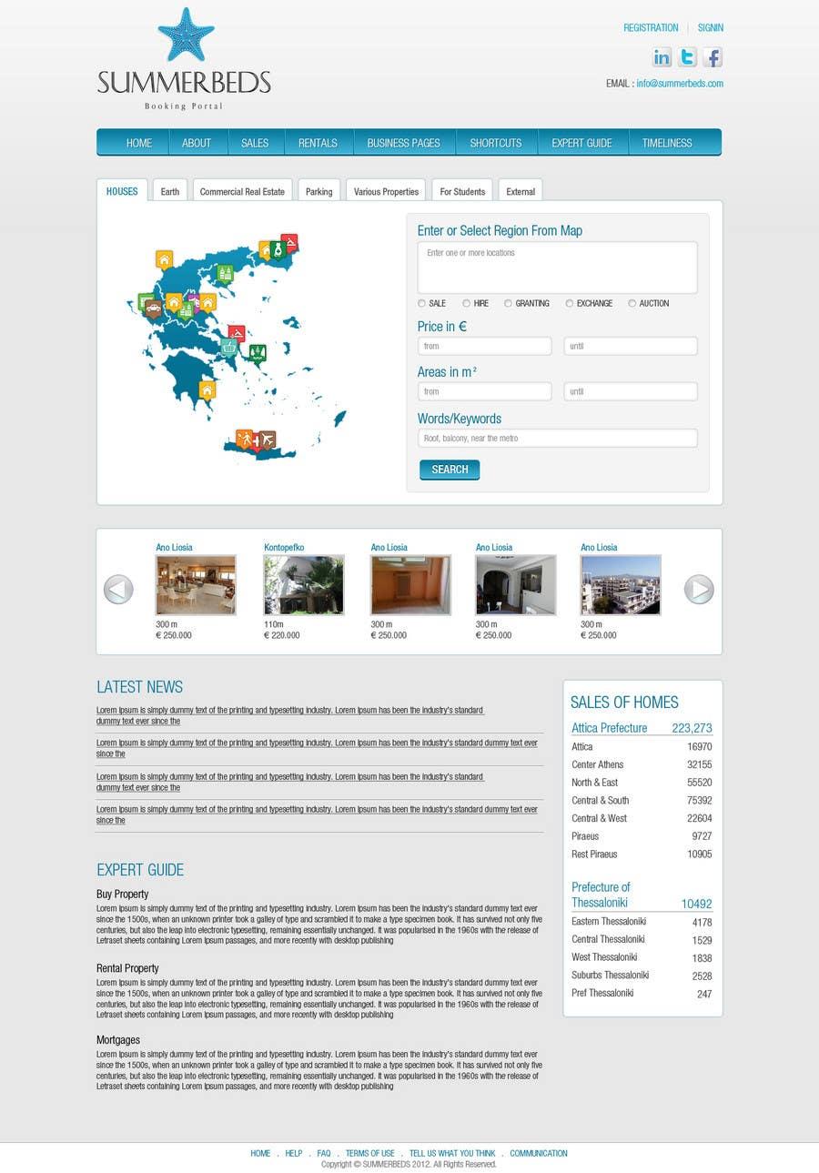 Bài tham dự cuộc thi #18 cho Website Design for SUMMERBEDS