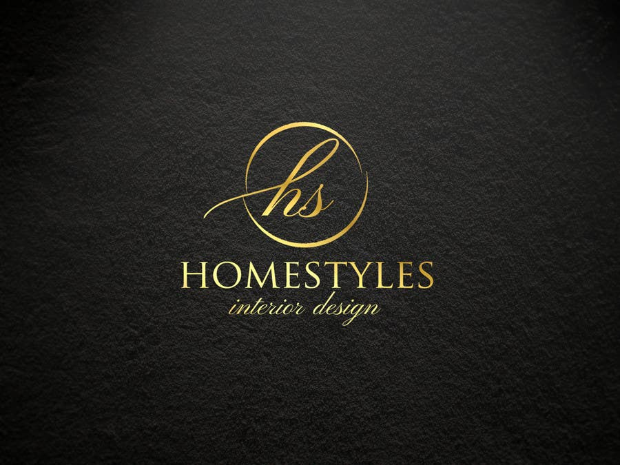 design a logo font for high end interior design company homestyles freelancer. Black Bedroom Furniture Sets. Home Design Ideas
