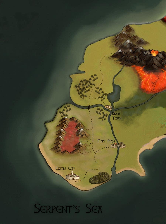 Fantasy Life World Map.Entry 22 By Sbellshaw For Illustrate A Fantasy World Map Freelancer