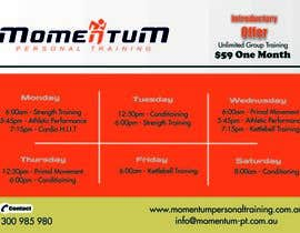 #3 for Design an eye catching timetable for my Group Personal Training Program by rkamitabr