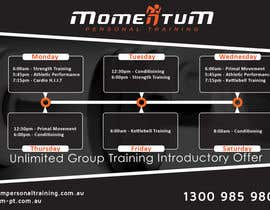 #22 for Design an eye catching timetable for my Group Personal Training Program by shalinshah91