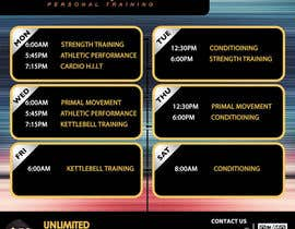 #14 for Design an eye catching timetable for my Group Personal Training Program by mirandalengo