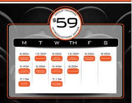 #26 for Design an eye catching timetable for my Group Personal Training Program by tiannalabau