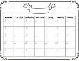 #105 for Easy $100 - Make a Monthly Calendar by karunrams
