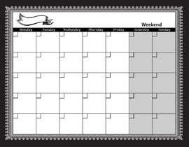 #83 for Easy $100 - Make a Monthly Calendar by yamzdesignz