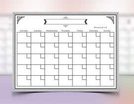 #111 for Easy $100 - Make a Monthly Calendar by DuraiVenkat