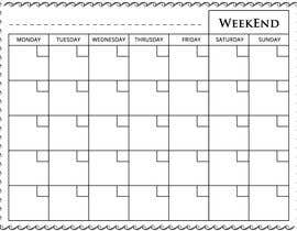 #85 for Easy $100 - Make a Monthly Calendar by pjrrakesh