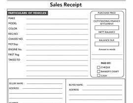 design a good car sales receipt with key features freelancer