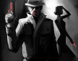 #32 untuk Horror Noir Detective Illustration oleh saizel