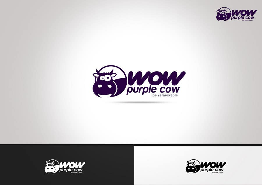Entry 350 By Xcerlow For Wow Purple Cow Logo Design For