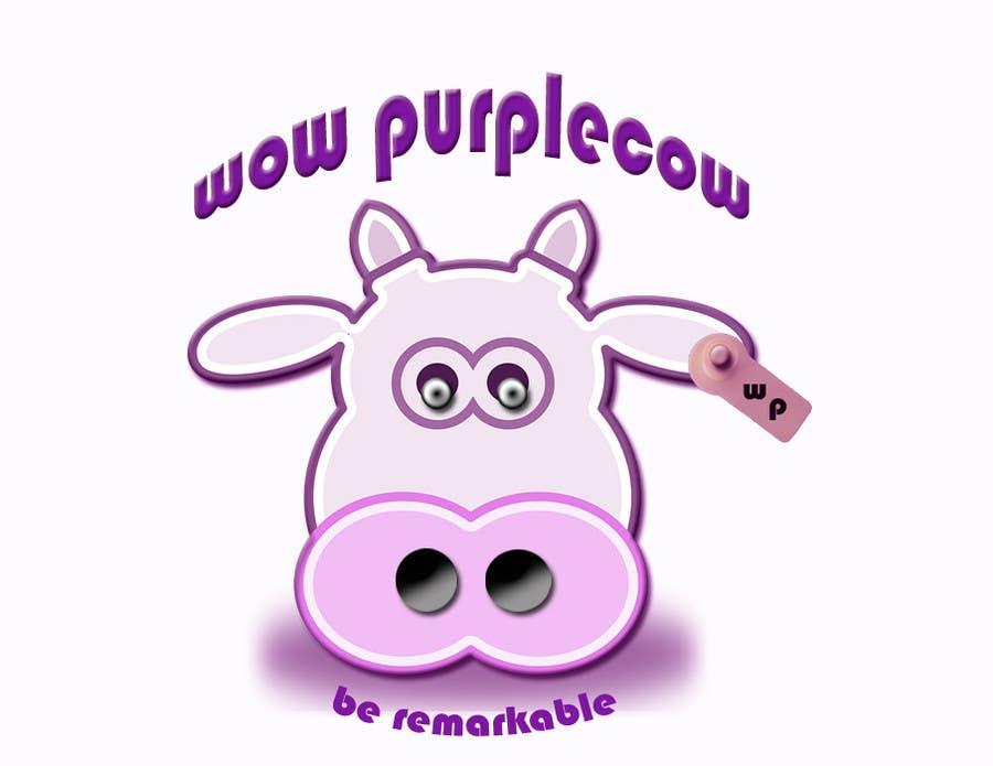 Bài tham dự cuộc thi #397 cho WOW! Purple Cow - Logo Design for wowpurplecow.com - Lots of creative freedom, Guaranteed Winner!