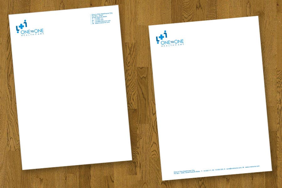 Contest Entry #                                        34                                      for                                         Simple stationary for One to One Healthcare