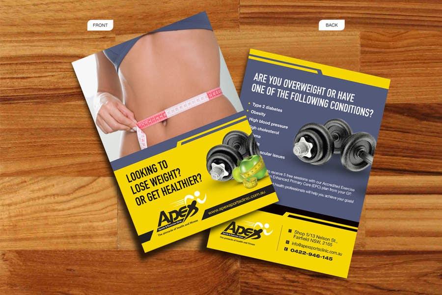 Inscrição nº                                         30                                      do Concurso para                                         Design a small flyer for weight loss to leave at shop counters