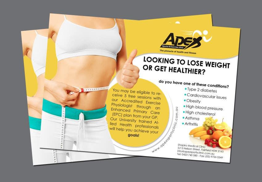Inscrição nº                                         21                                      do Concurso para                                         Design a small flyer for weight loss to leave at shop counters