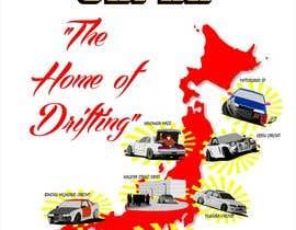 """#11 para Design a """"greetings from Japan"""" design for car drifting company por misicivana"""