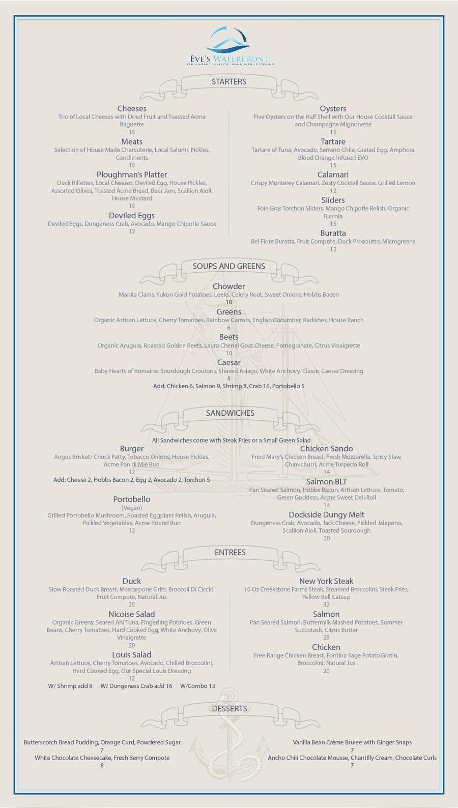 clean simple menu design freelancer