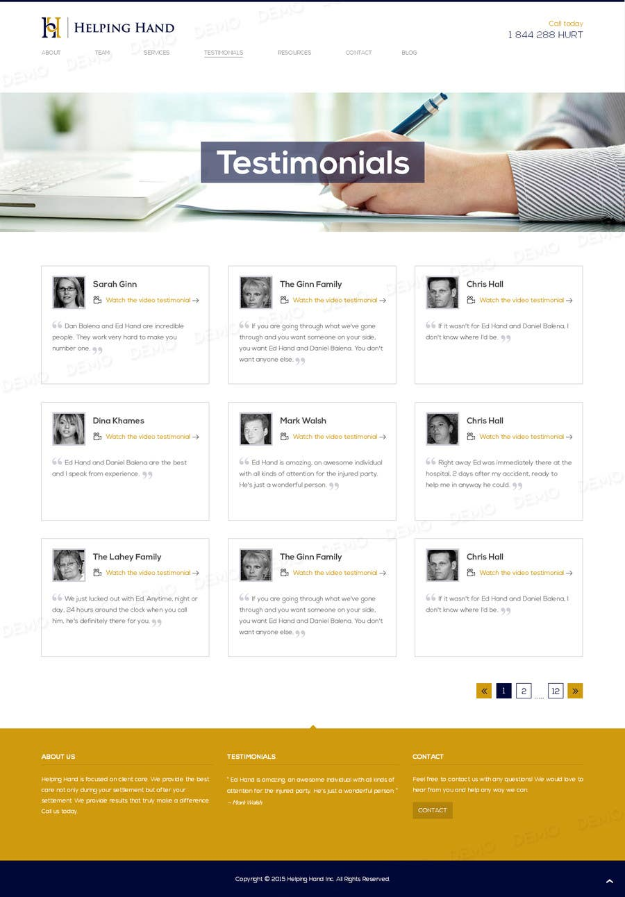 Entry By Tamamanoj For Design A Testimonials And Bog Page - Photo contest website template