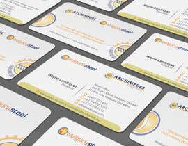 #95 untuk Business Card Design for Wulguru Group - incorporates Wulguru Steel & Archimedes Engineering oleh artleo