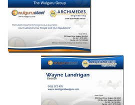 #5 untuk Business Card Design for Wulguru Group - incorporates Wulguru Steel & Archimedes Engineering oleh madiful