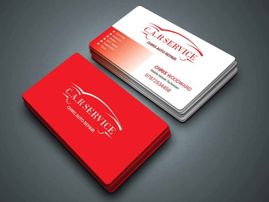 Entry #17 by Kamrunnaher20 for Design car mechanic business card ...