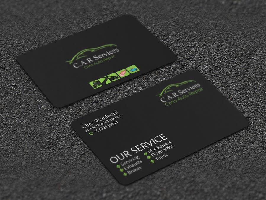 Entry #56 by Artspixel for Design car mechanic business card ...