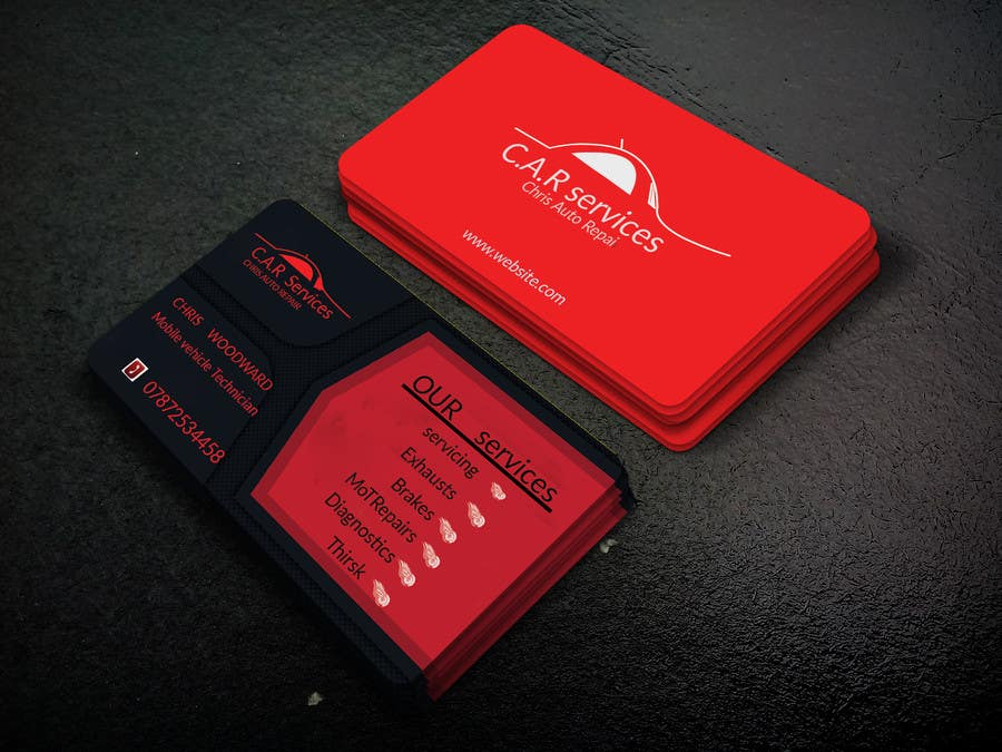Entry #81 by rubelnspi for Design car mechanic business card ...