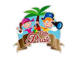 #103 untuk Logo Design for a baby shop - Nice pirates with a Cartoon style, fun and modern oleh tarakbr