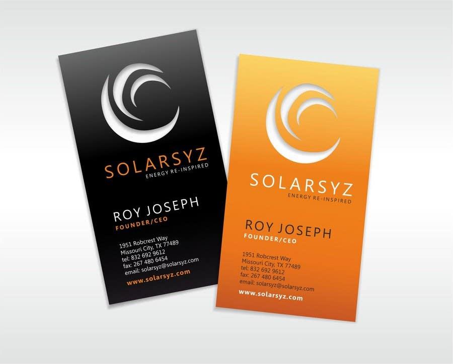 Inscrição nº                                         23                                      do Concurso para                                         Business Card Design for SolarSyz