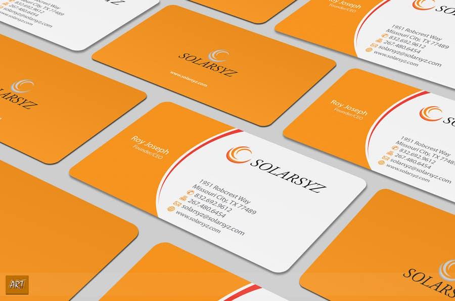 Inscrição nº                                         130                                      do Concurso para                                         Business Card Design for SolarSyz